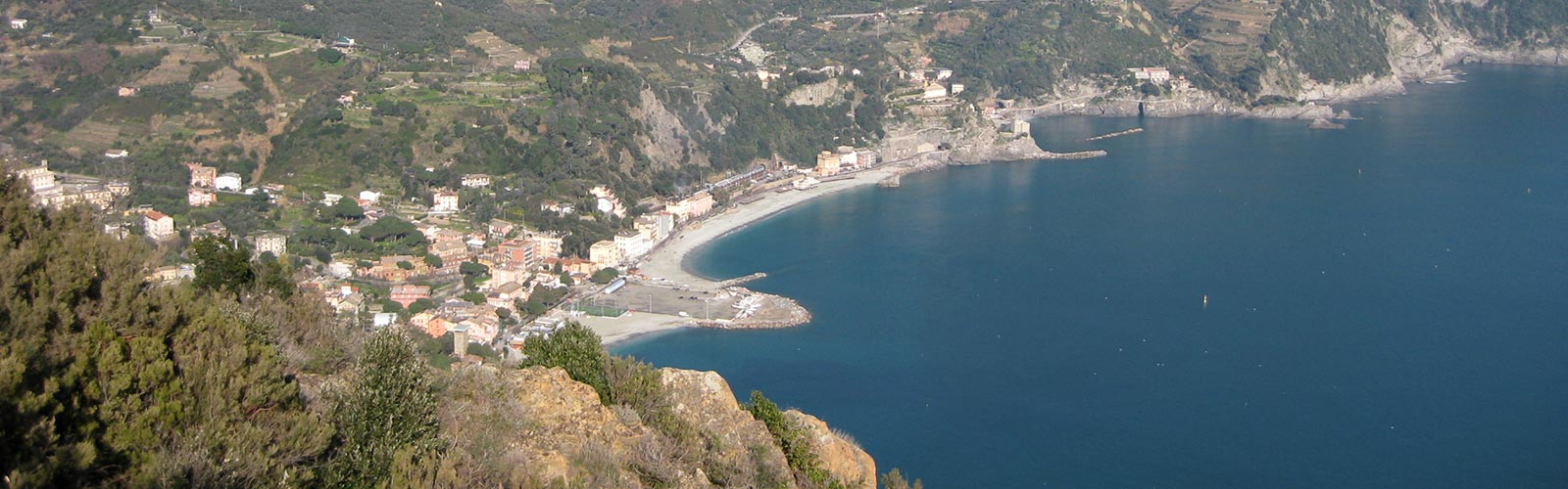 View of Monterosso from the trail to Punta Mesco and Levanto - Hotel Punta Mesco - Monterosso al Mare Cinque Terre Liguria Italy